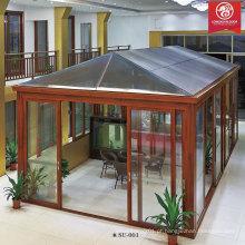 Factoy Custom Sun Room, casa de vidro de alumínio