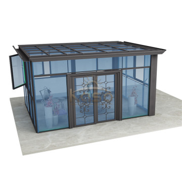 Green House Glass Aluminum Lean To Sunroom