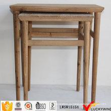Mesas de anidación de estilo vintage de madera maciza