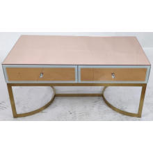 Rose Gold mirror metal leg MDF Coffee Table
