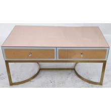 Розовое золото зеркальная металлическая ножка МДФ журнальный столик