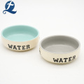 Pet Accessories Customized Stoneware Animal Dog Water Bowl