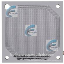 Placa de filtro de prensa de membrana PP 800 de alta presión