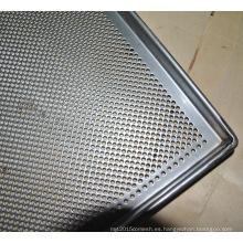 Bandejas de servicio de alimentos horneados de acero inoxidable perforado 304 ss de acero inoxidable