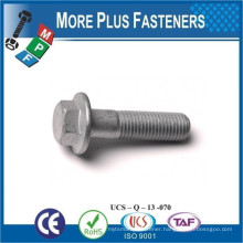 Made in Taiwan Hexagonal Head Bolt with Flange Serrated or Non Serrated DIN 6921 Steel Galvanized