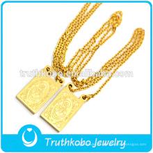 Fabricante profissional da jóia católica Lorbs aço inoxidável Jóias Vácuo Medalha religiosa Colar de corrente com Jesus