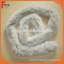 down coat long fox fur strips