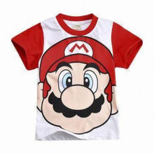 Children's Short Sleeve T-shirt, Eco-Friendly, OEM Orders Accepted