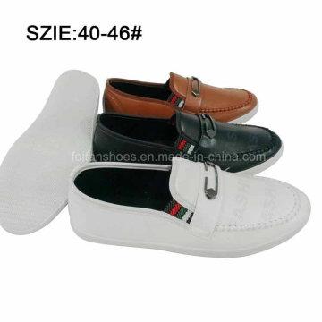 Nouveau style Fashion Men Slip sur Injection Chaussures Casual Chaussures en cuir (MP16721-17)