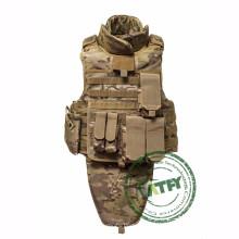 Colete à prova de balas de corpo inteiro cor personalizada e colete balístico colete à prova de bala grátis com proteção de colarinho e virilha