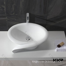 Bathroom White Matt Solid Surface Wash Sink