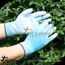 SRSAFETY 13G Nylon knitted PU Coated Garden Gloves/Safety Working Gloves