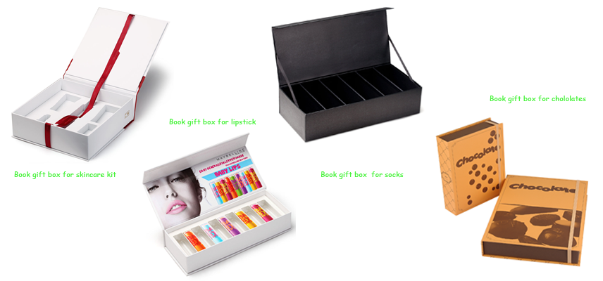 Cosmetic/garment book gift paper box