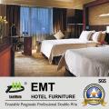Hot Sell Hotel Furniture Ensemble de chambre à coucher double (EMT-B1201)