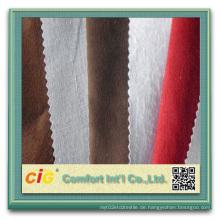 100% Polyester Stickerei Wildleder Stoff für Polsterung für Auto
