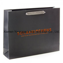 Large Luxury Card Black Matte Laminate Satin Handle Paper Bag