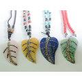 2016 Мода Ювелирные изделия Кристалл Листья Кулон с Кристалл Rhinestone Paved