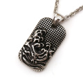 Vintage square wave pendant cover with black oil