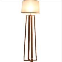 Wood and fabric tripod floor lamp standing lamp lighting