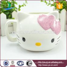 Venta al por mayor Rosa Hello Kitty Cerámica creativa taza