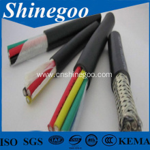 Multicore pvc insulation jacket shielded electrical cable