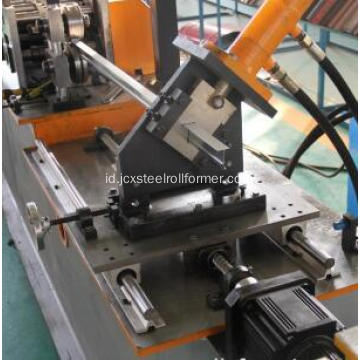 Langit-langit Steel Tee Grid Bar Roll Forming Machine