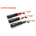 Factory Supply 1000 Lumens Zoomable Cree Xm-l T6 LED 26650 18650 3x AAA Zoom Flashlight Torch Lamp