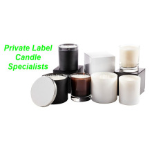 Customized label organic soy candle in glass holder