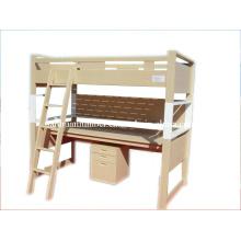 Cama de madeira protegida Ded/ambiental das crianças cama de madeira /Kindergarten