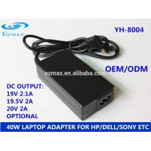 YH-8004 40W Adaptateur pour ordinateur portable L'adaptateur Adaptateur pour ordinateur portable Chargeur pour ordinateur portable