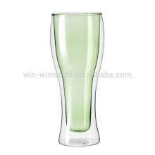 New Double Wall Glass Beer Insulated Cups