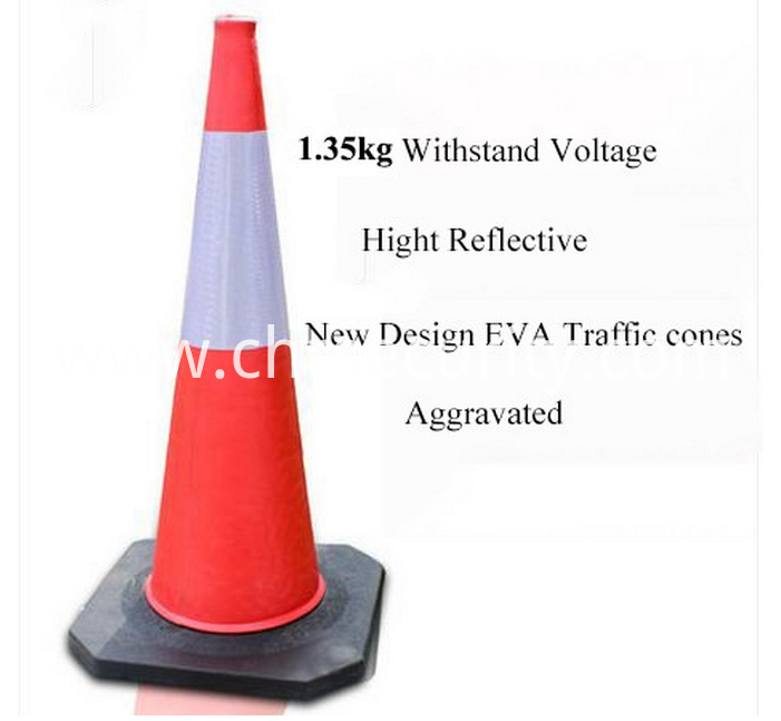 48cm EVA Reflective Traffic Cones Road Safety Equipment