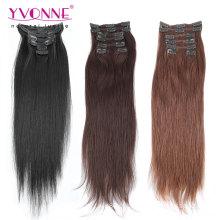 Grampo reto natural no cabelo humano das extensões do cabelo