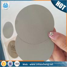 PP PE Granulate Stahl Dutch Weave Mesh Filter Disc