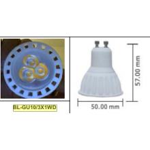 3W GU10 COB Светодиодный прожектор