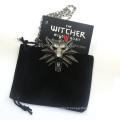 Hot Sale Jeu Bijoux Witcher 3 Wild Wolf Head Necklace For Men