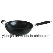 Kitchenware Carbon Steel Non-Stick Wok with Bakelite Handle Cookware