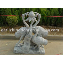 Lovely Crane Stone Carving