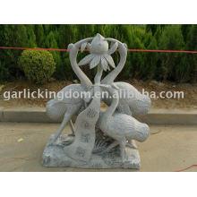 Belle sculpture en pierre de grue