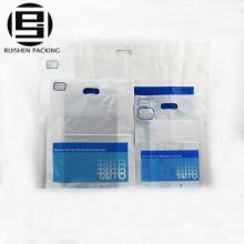 Bolsos de compras plásticos impresos dados baratos impresos