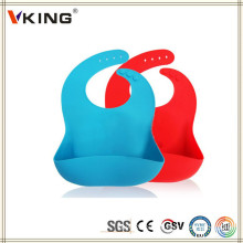 High Quality Silicone Baby Bibs with Crumb Catche