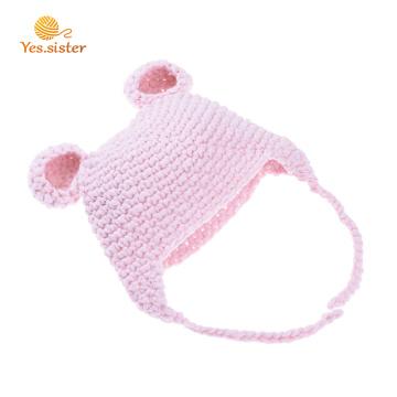 100% acrílico bebê crochet super macio gorro chapéu