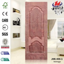 JHK-008-1 Popular Russia 8mm Deep Pressing Laminate Molded Veneer Bubinga MDF Door Sheet   Quality Assured