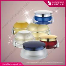 China Todo en forma de cosméticos de empaque de crema de acrílico Jars Crema de plástico jarros de muestra