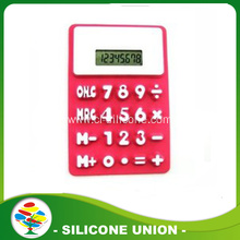 Promotion hot sales flexible silicone calculator