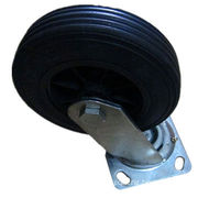 8-inch Rubber Wheel Caster with Various Direction, Widely Used on Platform Truck