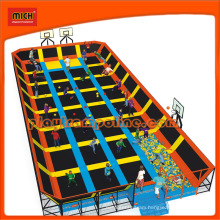 Mich TUV Certified Long Professional Trampoline with Foam Pit
