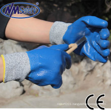 NMSAFETY stone working safety gloves for anti cut work