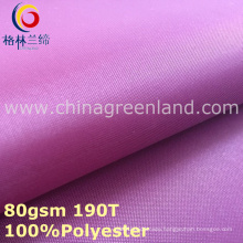 Polyester Taffeta Pongee Plain Fabric for Lining Bag (GLLML296)