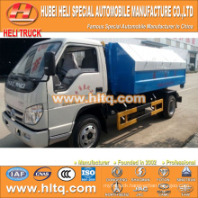 FOTON FORLAND 4X2 4.5m3 98hp hydraulic lifting garbage truck best price professional production